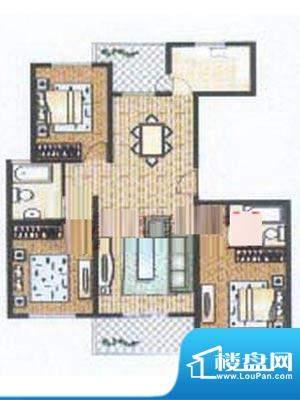 众旺苑户型图 3室2厅2卫面积:122.00平米