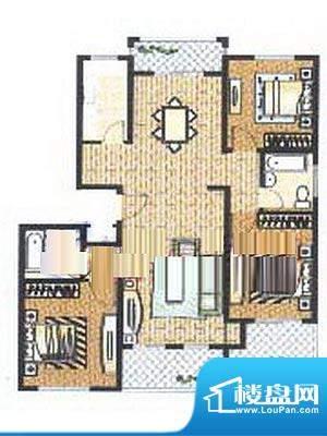 众旺苑户型图 3室2厅2卫