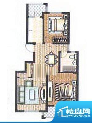 众旺苑户型图 2室2厅1卫面积:87.00平米