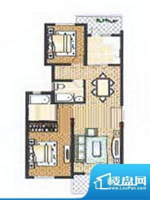 众旺苑户型图 2室2厅1卫面积:90.00平米