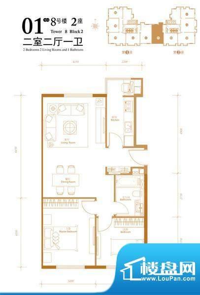 悠唐麒麟公馆HIP公寓8号楼2座0面积:94.79平米
