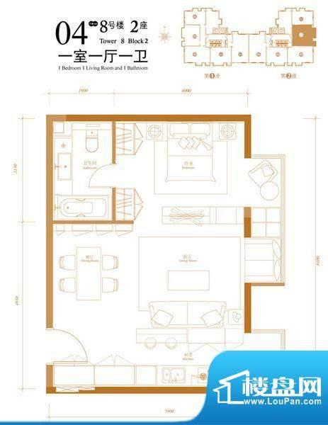 悠唐麒麟公馆HIP公寓8号楼2座0面积:70.63平米