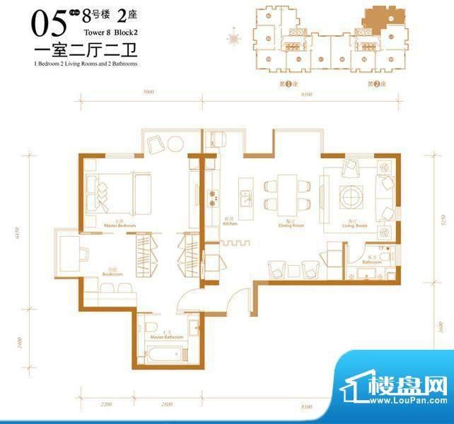 悠唐麒麟公馆HIP公寓8号楼2座0面积:122.39平米