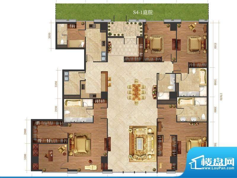 国悦府s4-1户型 4室2厅4卫1厨面积:430.00平米
