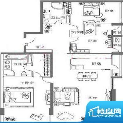 国悦府户型图 4室3厅5卫1厨面积:568.00平米