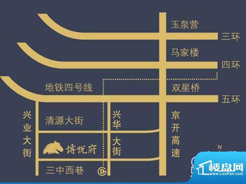博悦府交通图