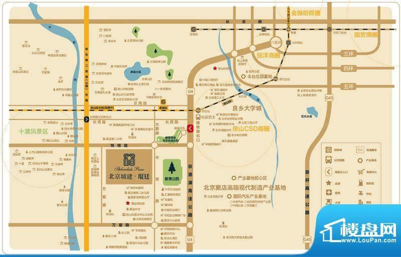 北京城建琨廷位置图