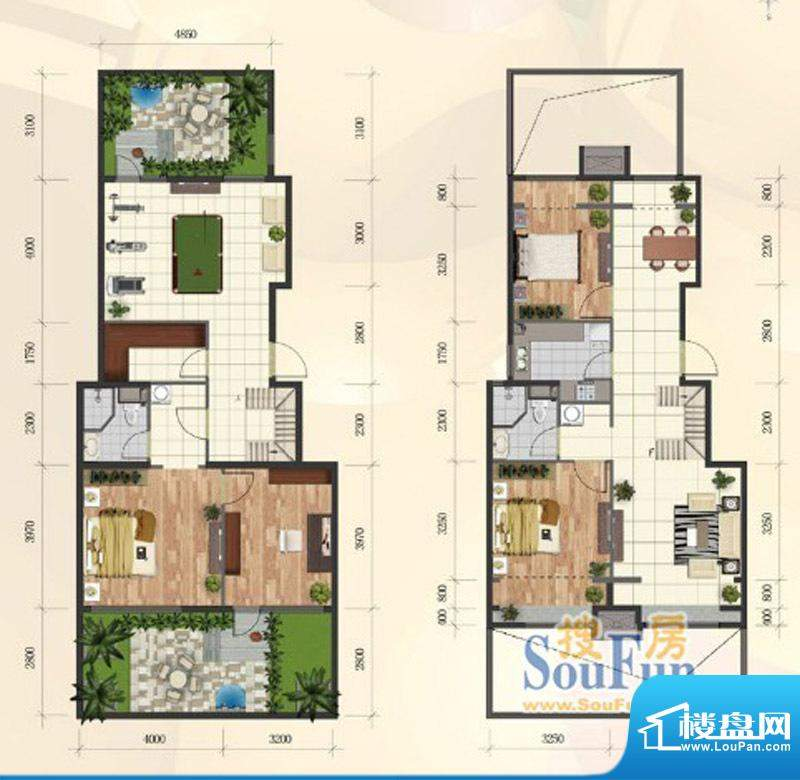 首创·新悦都C2户型图4室2厅2卫面积:172.00平米