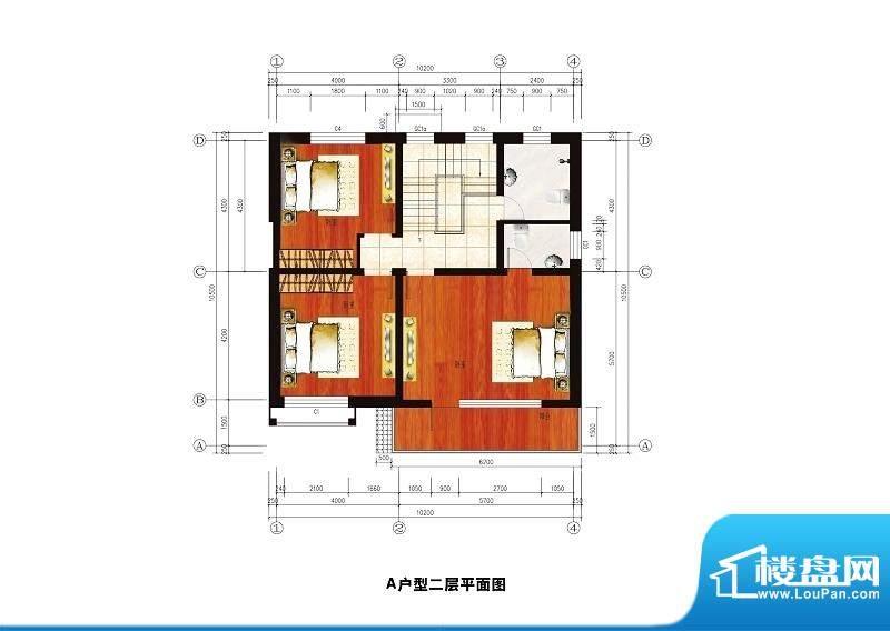 中华艺墅A户型图二层 3室2卫面积:197.16平米