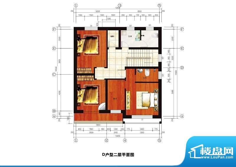 中华艺墅D户型图二层 3室2卫面积:201.69平米