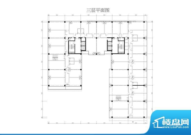紫晶七星广场三层平面户型图