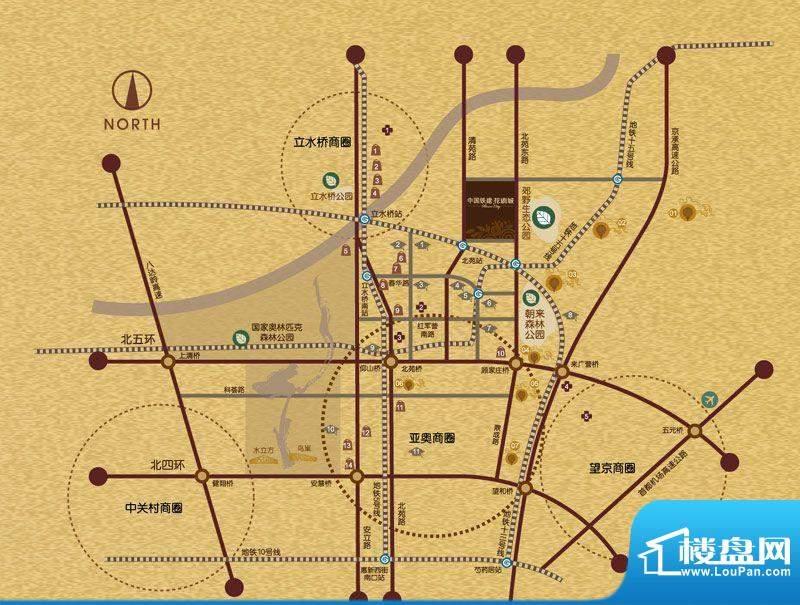 中国铁建·花语城交通图
