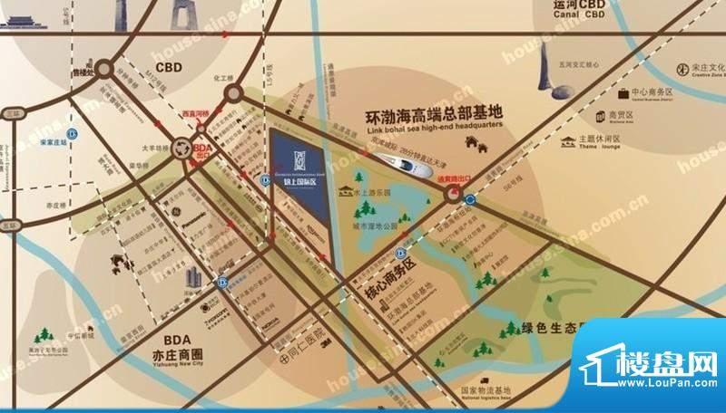 锦上国际区交通图