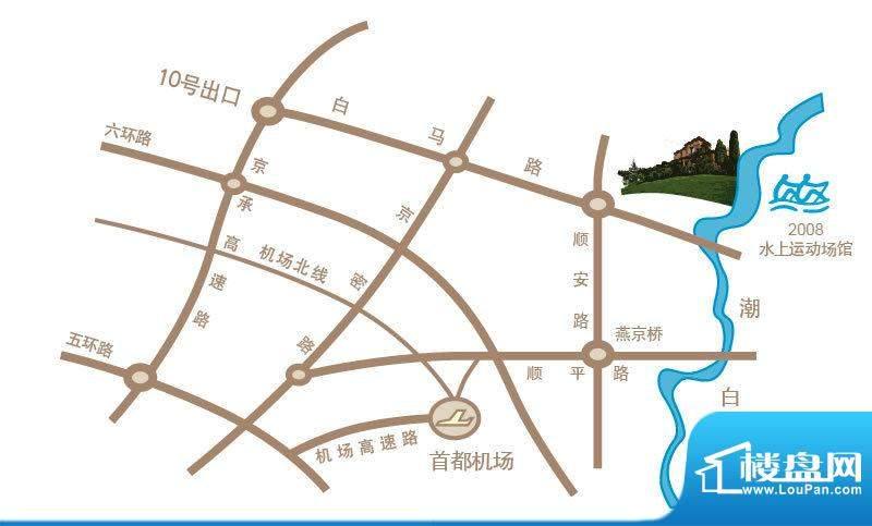 龙湖·香醍溪苑交通图