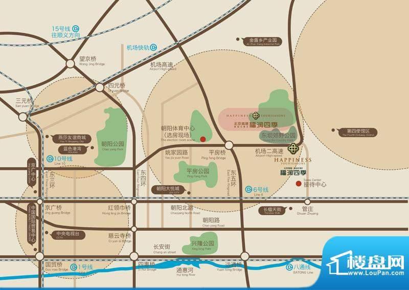 北京城建·福润四季交通图