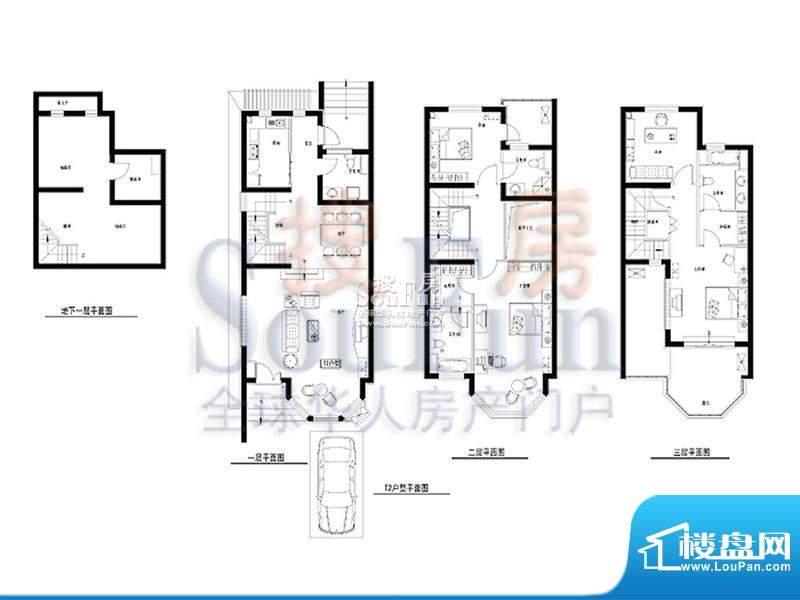 柏林山水T2户型 4室3厅3卫1厨