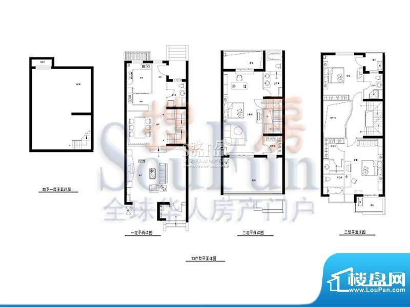 柏林山水T3户型 4室3厅3卫1厨