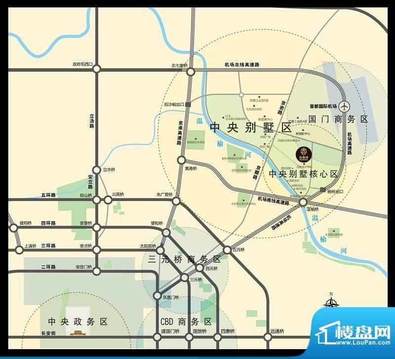棕榈滩中央墅交通图