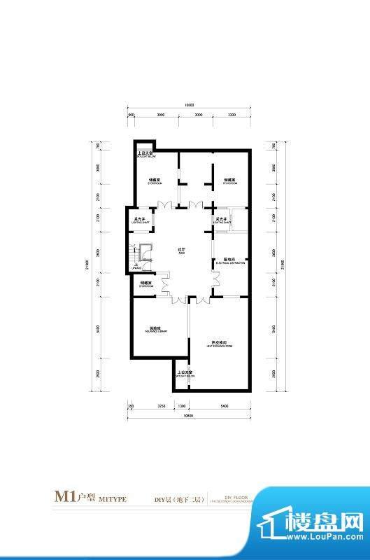 棕榈滩中央墅M1户型 DIY层地下面积:776.00平米