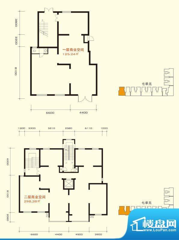 玺萌公馆城市间七单元商业户型