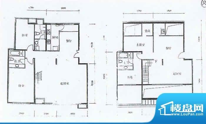 玺萌公馆B-Y2户型 4室4厅3卫1厨