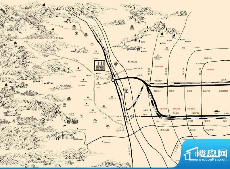 西山御园交通图