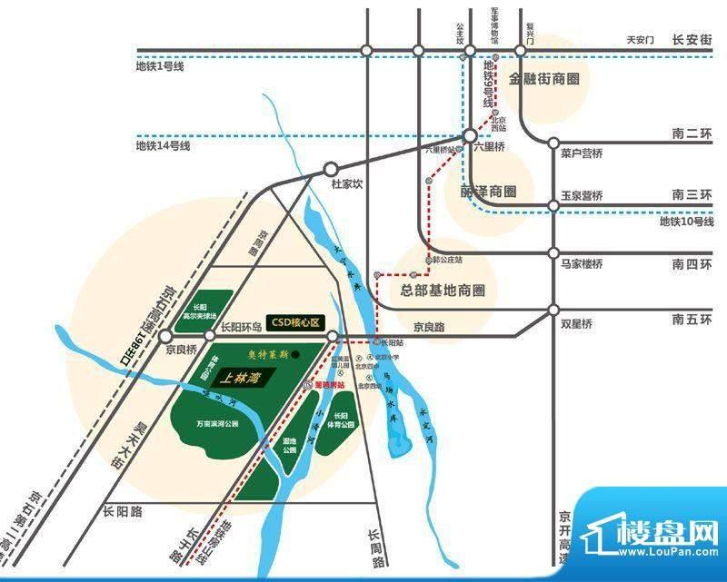 京投银泰上林湾交通图