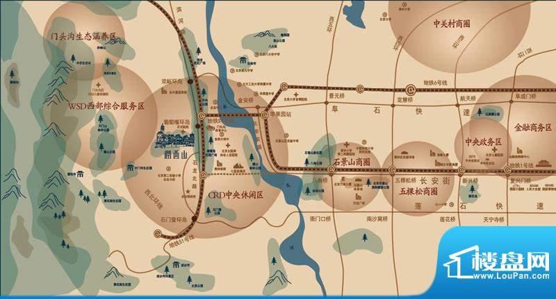 润西山·B组团交通图