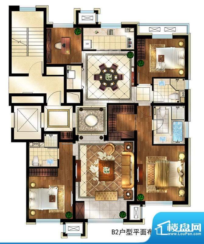 润西山·B组团8#楼B2户型 4室2面积:175.00平米