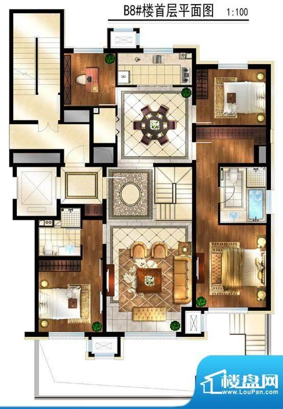 润西山·B组团8#楼B2s首层 2室面积:280.00平米