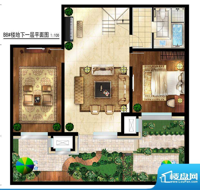 润西山·B组团8#楼B2s地下一层面积:280.00平米