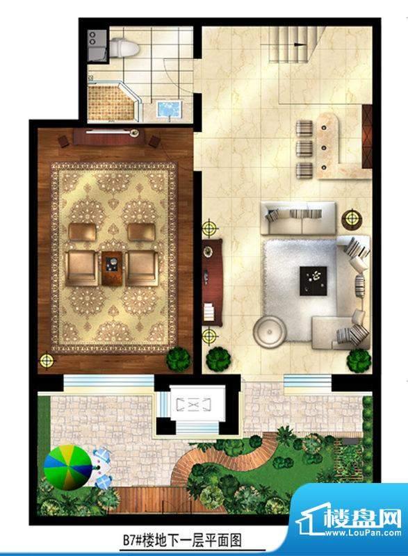 润西山·B组团7#楼C1s地下一层面积:185.00平米