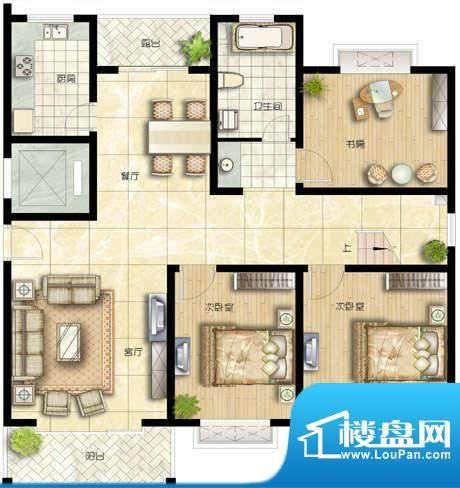 正源·金融世家华苑户型图 2室