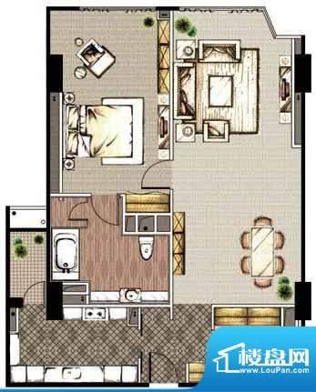 贡院9号1居户型 1室1厅1卫1厨面积:120.88平米