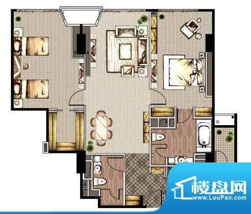 贡院9号2居户型 2室2厅2卫1厨面积:177.19平米