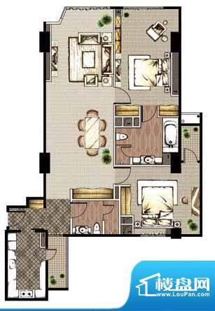 贡院9号2居户型 2室2厅2卫1厨面积:159.89平米