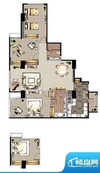 贡院9号4居户型 4室2厅2卫1厨面积:177.19平米