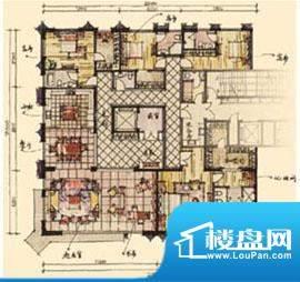 钓鱼台七号院C户型 5室3厅4卫1面积:480.00平米