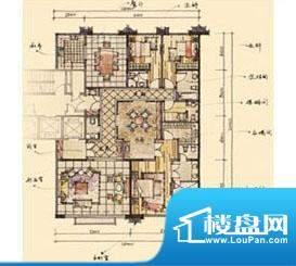钓鱼台七号院D户型 3室3厅3卫1面积:320.00平米