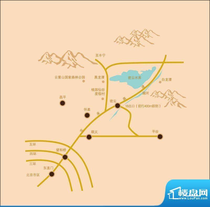 密云·领袖汇交通图