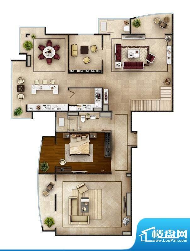 PARK北京SD1户型(首层) 4室4面积:496.00平米