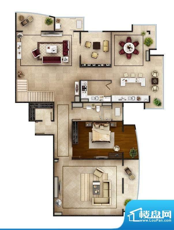 PARK北京SD户型(首层) 4室4厅面积:512.00平米