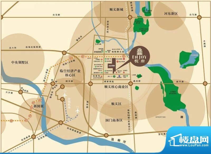 悦府交通图