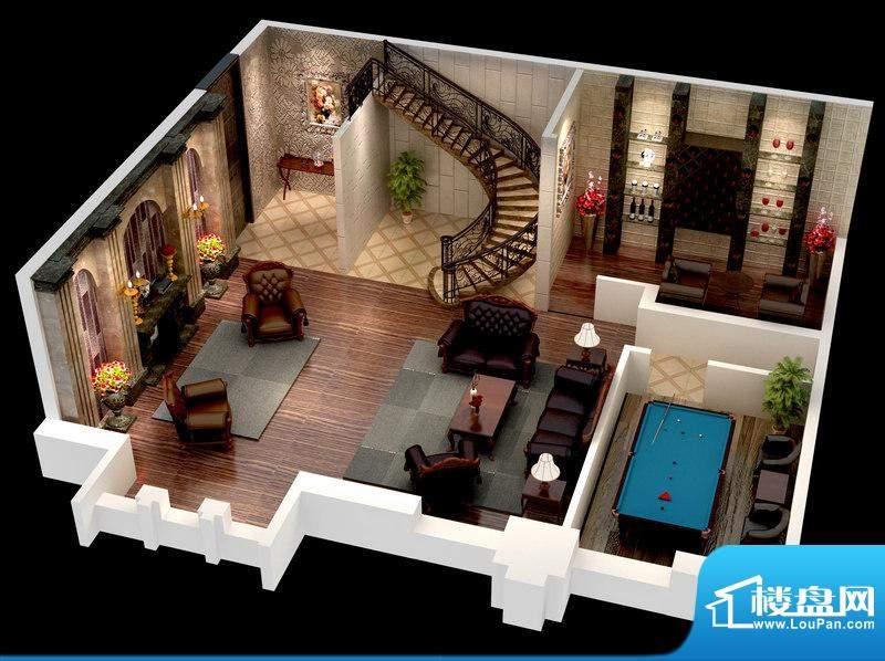 悦府E-1、2、3单元 2室1厅1卫1面积:96.26平米