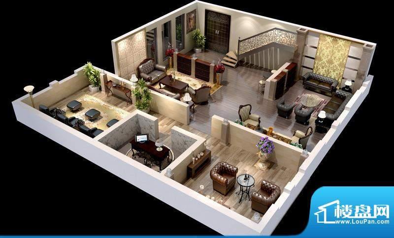 悦府D-1、2单元 3室2厅2卫1厨面积:134.95平米