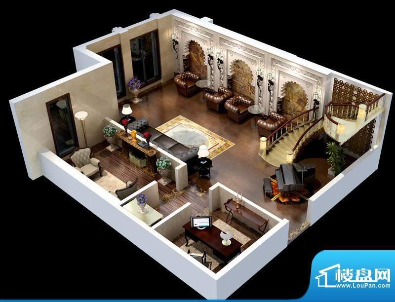 悦府B、C-1、2、3单元 2室1厅1面积:69.91平米