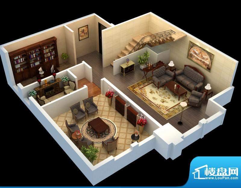 悦府f-3单元 3室2厅2卫1厨面积:106.91平米