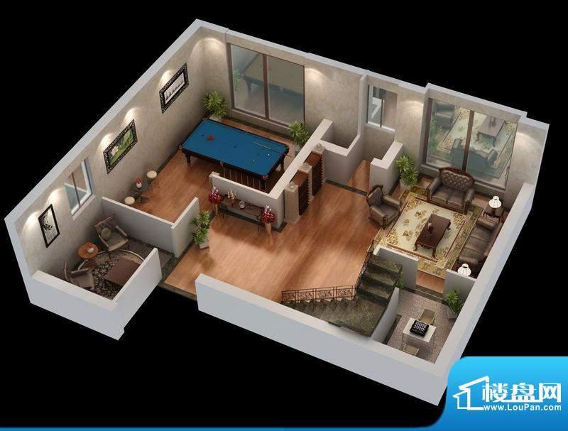 悦府g-1、2单元 3室2厅2卫1厨面积:133.80平米