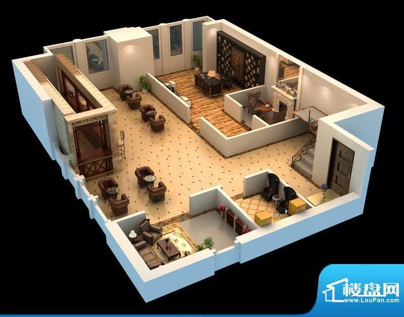 悦府H-3单元 3室2厅2卫1厨面积:143.51平米