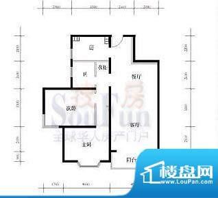 武夷·城市左岸39型标准层D户型面积:102.21平米